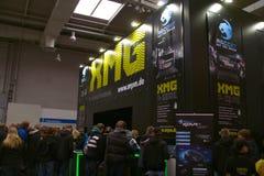 Carrinho do XMG na expo do computador de CEBIT Imagem de Stock