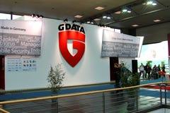 Carrinho dos G-Dados na expo do computador de CEBIT Foto de Stock