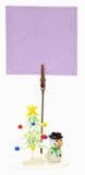 Carrinho pequeno com cartão em branco Fotografia de Stock