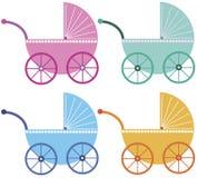 carrinhos do bebê Imagens de Stock Royalty Free