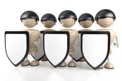 Carrinhos e protetor da segurança Fotos de Stock Royalty Free
