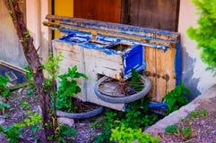 Carriola abbandonata Fotografie Stock Libere da Diritti