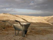 Carriola nel deserto Immagine Stock Libera da Diritti