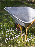 carriola pigra del giardiniere s Fotografie Stock