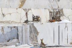 Carrière de marbre, marbre blanc Photo libre de droits