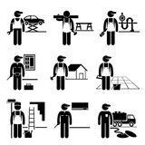 Carrières de professions de Labour Skilled Jobs de bricoleur Photographie stock