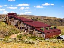 Carrisa Gold Mine södra passerandestad, WY arkivbilder