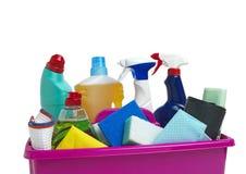 Carrito de la limpieza Imagen de archivo libre de regalías