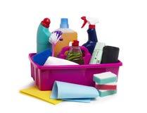 Carrito de la limpieza Fotografía de archivo libre de regalías