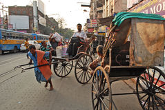 Carrito en Kolkata fotografía de archivo