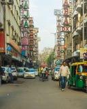 Carritos de Tuk Tuk en Delhi durante el día Imagen de archivo