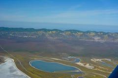 Carrizo Plains l'antenna di Superbloom del monumento nazionale Immagine Stock Libera da Diritti