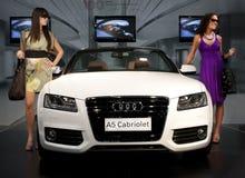 Carro 2009 justo de Belgrado, Audi a5 Imagem de Stock