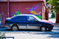 Carro abandonado Imagens de Stock Royalty Free