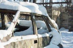 Carro abandonado imagens de stock