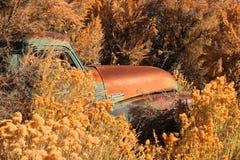 Carro abandonado, Belmont, Nevada Fotos de archivo