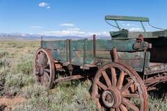 Carro abandonado del oeste Foto de archivo