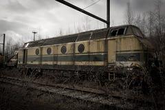 Carro abandonado del tren Imágenes de archivo libres de regalías