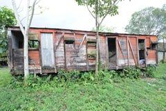 Carro abandonado del tren en Quirigua Fotografía de archivo