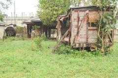 Carro abandonado del tren en Quirigua Imagen de archivo