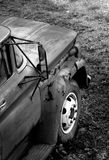 Carro aherrumbrado Foto de archivo libre de regalías