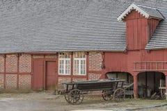 Carro al aire libre del caballo del museo de Fredriksdal Foto de archivo