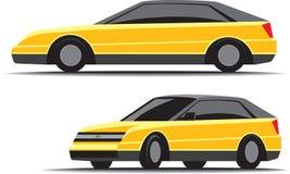 Carro amarelo Imagem de Stock