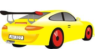 Carro amarelo Imagens de Stock Royalty Free