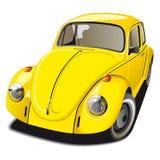 Carro amarelo antiquado ilustração stock