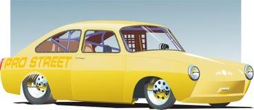 Carro amarelo do arrasto Fotos de Stock Royalty Free