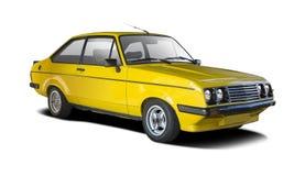 Carro amarelo do clássico do esporte foto de stock