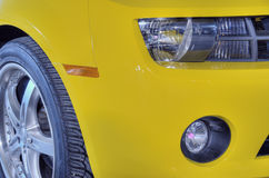 Carro amarelo do músculo Foto de Stock Royalty Free