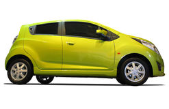 Carro amarelo novo imagem de stock