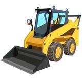 Carro amarillo con un raspador para levantar el cargo. libre illustration