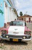 Carro americano clássico em Trinidad.Chevrolet Foto de Stock Royalty Free