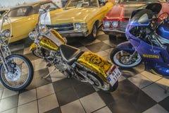 Carro americano clássico, harley davidson Fotografia de Stock