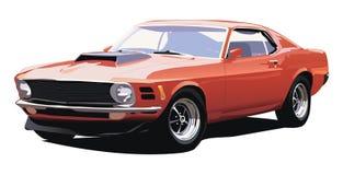 Carro americano velho ilustração royalty free