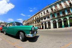Carro americano velho clássico em Havana Imagens de Stock