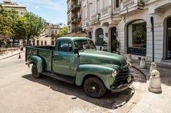 Carro americano velho na rua Fotografia de Stock