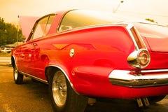 Carro americano vermelho do músculo Fotos de Stock