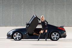 Carro & borracho Fotografia de Stock