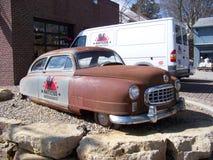 Carro antigo das máquinas desbastadoras americanas Fotos de Stock