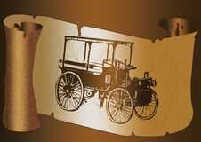 carro antigo gráfico Ilustração Stock