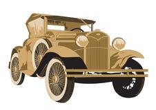 Carro antigo no branco Ilustração Stock