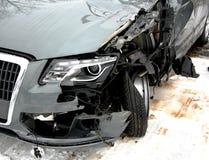 Carro após um acidente Imagens de Stock Royalty Free