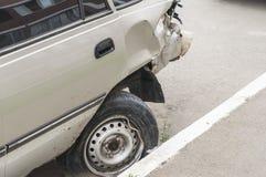 Carro após um acidente fotos de stock