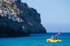 Carro aquático em Mallorca, Espanha imagens de stock