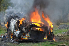 Carro ardente Imagem de Stock