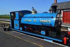 Carro armato blu della sella della st Annes di Lytham fotografia stock