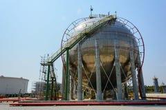 Carro armato del gas naturale fotografia stock